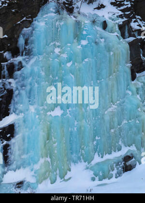 frozen waterfalls in Drivdalen, Norway, Drivdalen - Stock Photo
