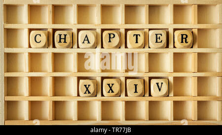 wooden game with the word chapter XXIV - Stock Photo