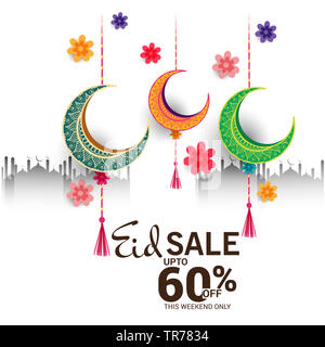 Eid Mubarak Poster Happy Eid Mubarak Eid Mubarak Stock Photo Alamy
