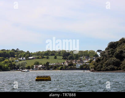 Small hamlet of Wilcove, Torpoint, Cornwall. Small community on the banks of the River Tamar and near to Anthony House - Stock Photo