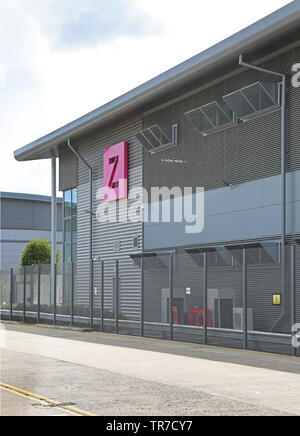A secure data storage centre run by Zenium on the Slough Trading Estate, near Heathrow, London, UK - Stock Photo