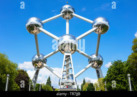 Brussels atomium Brussels Square de l'Atomium Boulevard de Centaire Brussels Belgium Eu Europe - Stock Photo