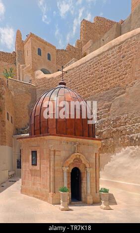 Greek Orthodox Monastery of Mar Saba in Judean Desert, Israel - Stock Photo