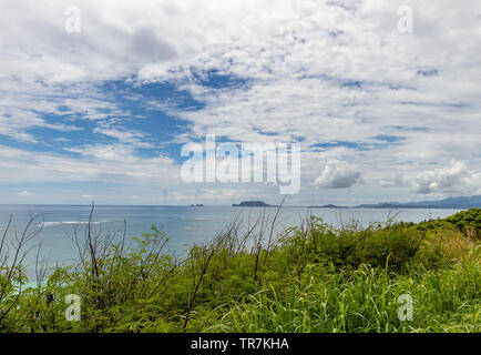 Looking out on the ocean from Kualoa ranch - Stock Photo
