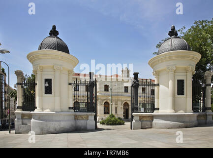 Entrance to Palacio de Fomento - Ministerio de Agricultura in Madrid. Spain - Stock Photo