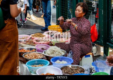 Food Being Sold In The Street, Tai O Fishing Village, Hong Kong, China - Stock Photo