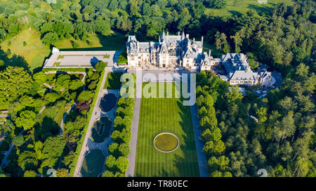 Biltmore House, Biltmore Estate, Asheville, NC, USA - Stock Photo