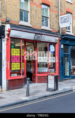 Flashback record shop in Crouch End, London, UK - Stock Photo