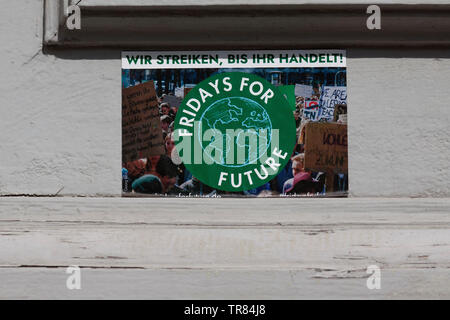 Sticker, Fridays for future in Berlin, Germany - Stock Photo