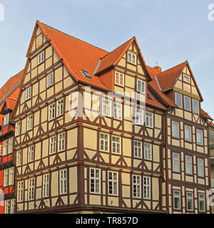 Traditional Timber Framing House in Hanover Germany - Stock Photo