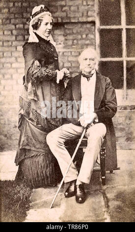 WILLIAM GLADSTONE (1809-1898) British statesman with his wife Catherine Glynne about 1870 - Stock Photo