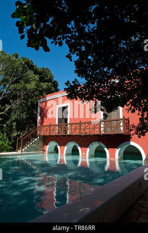 Hacienda Santa Roca, a boutique hotel in Santa Rosa, Yucatan, Mexico - Stock Photo