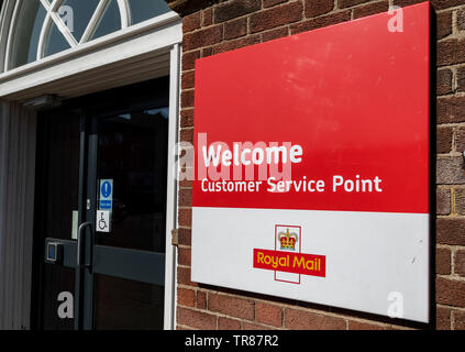 Entrance to Widnes Royal mail delivery office - Stock Photo