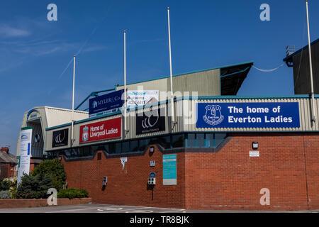 Exterior of the Halton Stadium Widnes April 2019 - Stock Photo