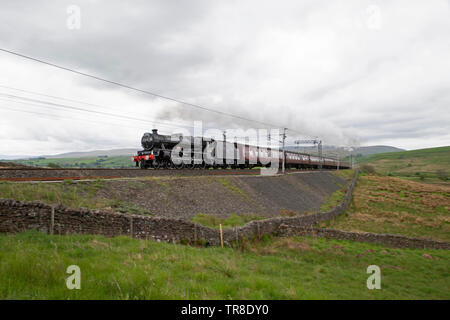 Steam Locomotive, LMS Jubilee Class,  45690 Leander at Tebay - Stock Photo