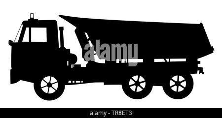 Tipper dump truck - Stock Photo