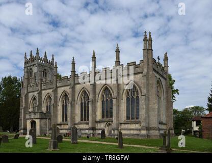 St Augustine's Church, Skirlaugh, East Yorkshire, England - Stock Photo