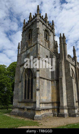 Perpendicular tower of St Augustine's Church, Skirlaugh, East Yorkshire, England - Stock Photo