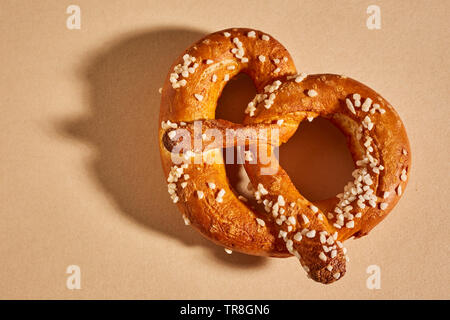 handmade hard pretzels, a traditional food from Lancaster County, Pennsylvania - Stock Photo