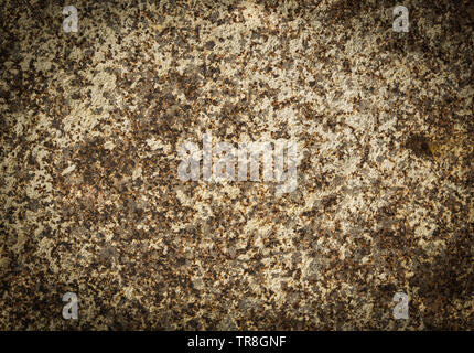 old rusty metal background / brown rustic iron plate patina stains texture - Stock Photo