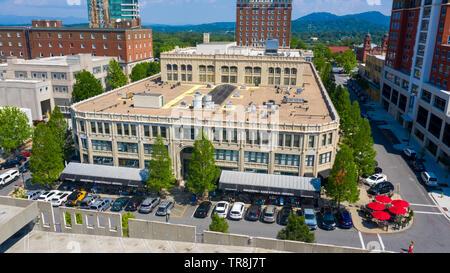 Arcade Building, or Grove Arcade, or Asheville Federal Building, Downtown Asheville, NC, USA - Stock Photo