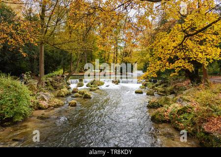 Englischer Garten in autumn. Munich Germany - Stock Photo