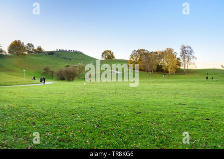 Olympic Park or Olympiapark in Munich. Germany - Stock Photo