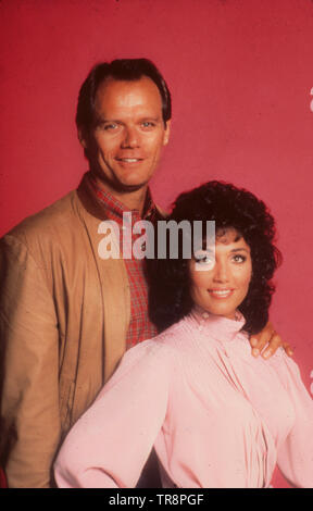 fred dryer, stepfanie kramer, hunter, 1984 - Stock Photo