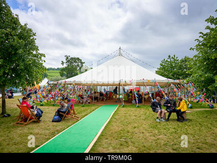 The Hay Festival, Hay-on-Wye, Wales, 2019 - Stock Photo