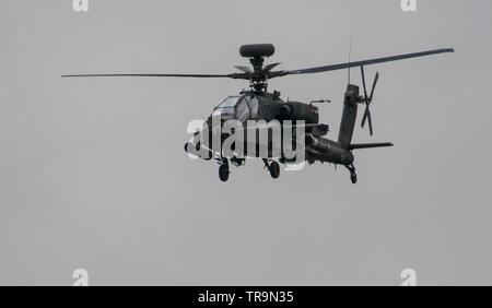 WAH-64D Apache Attack Helicopter - Stock Photo