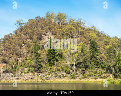 First Basin in Cataract Gorge, in the lower section of the South Esk River in Launceston, Tasmania, Australia. - Stock Photo
