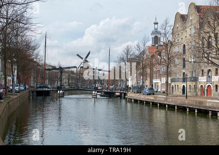 Old city in the Netherlands nearby Rotterdam - Stock Photo