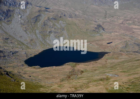 Small Water from near the Summit of the Wainwright Harter Fell in the Lake District National Park, Cumbria, England, UK. - Stock Photo