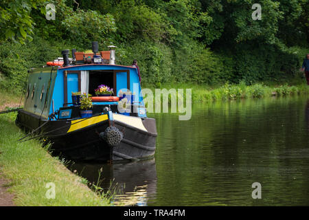 Staffordshire and Worcestershire Canal at Stourton Junction nr Kinver, Staffordshire, England, UK - Stock Photo
