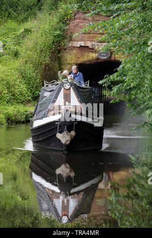 Staffordshire and Worcestershire Canal at Storton Junction nr Kinver, Staffordshire, England, UK - Stock Photo