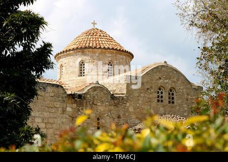 Church of Panayia Angeloktisti in Kiti village near Larnaca, Cyprus - Stock Photo