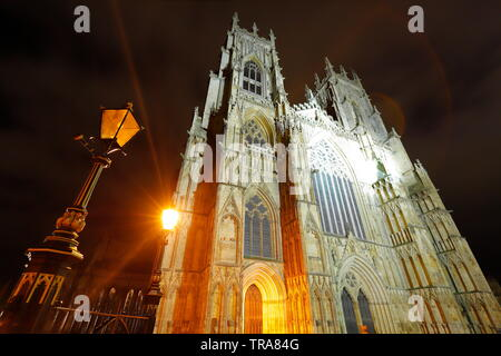 West Face Of York Minster - Stock Photo