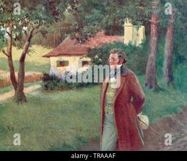 FRANZ SCHUBERT (1797-1828) Austrian composer - Stock Photo
