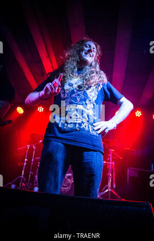 footprints in custard  live at rebellion manchester 2016 - Stock Photo