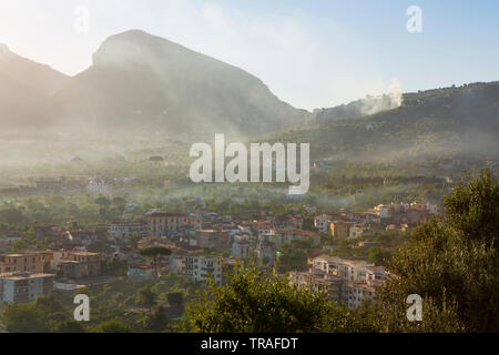 Sorrento, a town overlooking the Bay of Naples in Southern Italy. - Stock Photo
