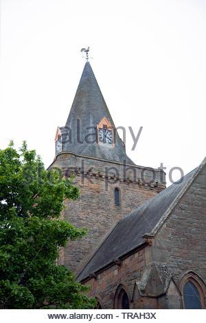 Dornoch Cathedral, Scotland - Stock Photo