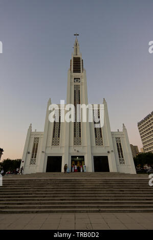 Cathedral of Our Lady of the Immaculate Conception, Maputo, Mozambique - Stock Photo