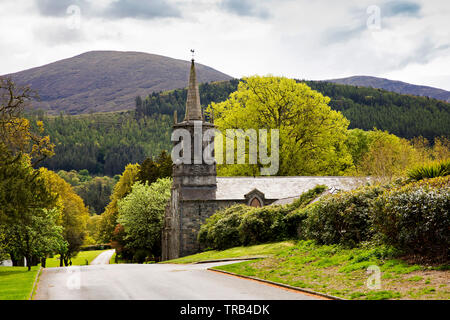 Northern Ireland, Co Down, Bryansford, Tollymore Forest Park, Clanbrassil Barn, agricultural barn built to resemble a church - Stock Photo