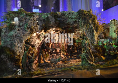 Palermo, Sicily - nativity in the Cathedral - Stock Photo