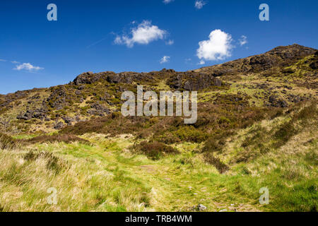 Ireland, Co Louth, Cooley Peninsula, Omeath, Windy Gap, depression in Long Woman's legend - Stock Photo