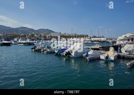 Puerto Marina yacht harbour. Benalmádena, Málaga province, Andalusia, Spain. - Stock Photo