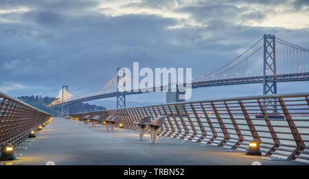 Bay Bridge is located in California, US, and connects San Francisco and Oakland. Its construction finished in 1936 and is one of the main landmarks of