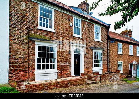 Period Houses, Chapel Row, Sadberge, Borough of Darlington, England - Stock Photo