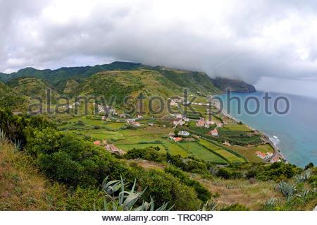 Sao Lourenco at the  East side of the island, Santa Maria island, Azores, Portugal - Stock Photo