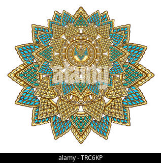 Textile Print Related Manually Illustrated Artwork Digitally Enhanced In Adobe Photoshop CC+ 20019 With special Effects and Brushes Manually Artwork - Stock Photo